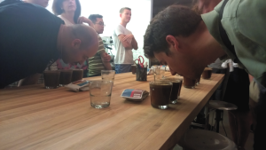 A Baked Joint cupping with Blueprint Coffee